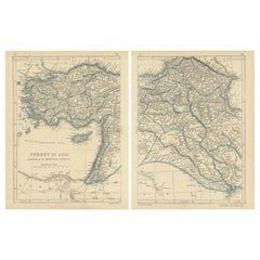Antique Map of Turkey in Asia by Lowry '1852'