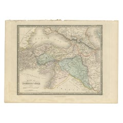 Antique Map of Turkey in Asia by Wyld '1845'