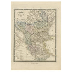 Antique Map of Turkey in Europe by Wyld, '1845'