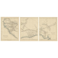 Antique Map of West Africa by Lowry, 1852