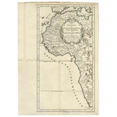 Antique Map of Western Africa by Van Dùren, 1749