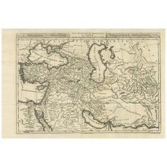 Antique Map of Western Asia by Van Dùren '1752'