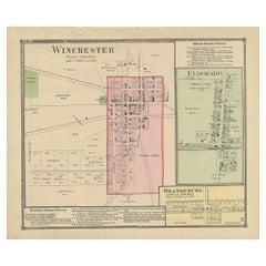 Antique Map of Winchester, Eldorado & Orangeburg, 1871