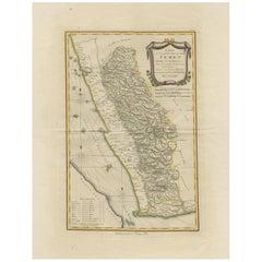 Antique Map of Yemen by Schraembl, 1789