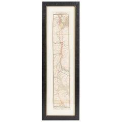 "Antique Map ""Routes Between New York & Washington"" New York Baltimore Washington"