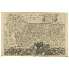 Antique Map Travel Children of Israel by Keur, 1748