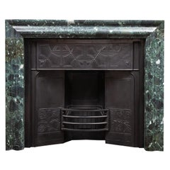 Antique Marble Bolection Fireplace with Metal Insert in the Mackintosh Style