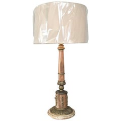 Antique Marble and Bronze Neoclassical Table Lamp