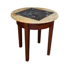 Antique Marble Chess Table, English, Mahogany, Game Board, Edwardian, Circa 1910