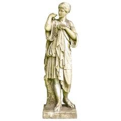 Antique Marble Classical Female Garden Figure