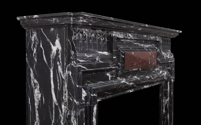 Baroque Revival Antique Marble Fireplace For Sale