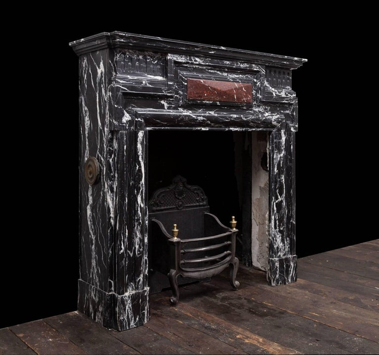 Carved Antique Marble Fireplace For Sale