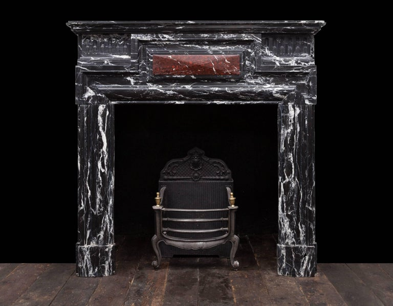 19th Century Antique Marble Fireplace For Sale
