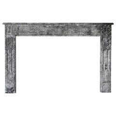 Antique Marble Fireplace from the 19th Century, Style of Louis XVI