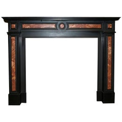 Antique Marble Fireplace Mantel, 19th Century