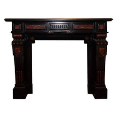 Antique Marble Fireplace Mantel 19th Century