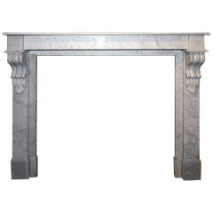 Antique Marble Firplace Mantel 19th Century