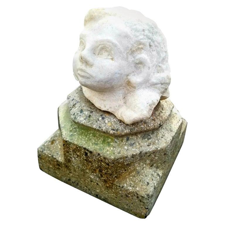 Antique Marble Head Sculpture For Sale