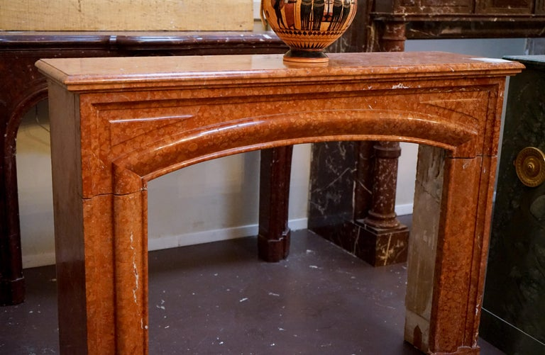 A petite marble mantel with very simple lines, but it's an exquisite piece!  Origin: France,  circa 1870  Measurements: 53 1/2