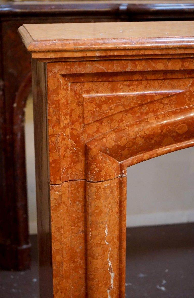 French Antique Marble Mantel, circa 1870 For Sale