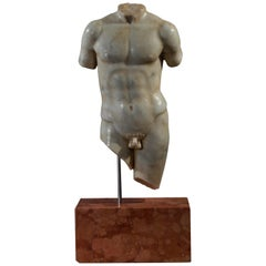 Antique Marble Torso of a Male Youth