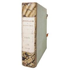 Antique Marbleized Paper Binder Box