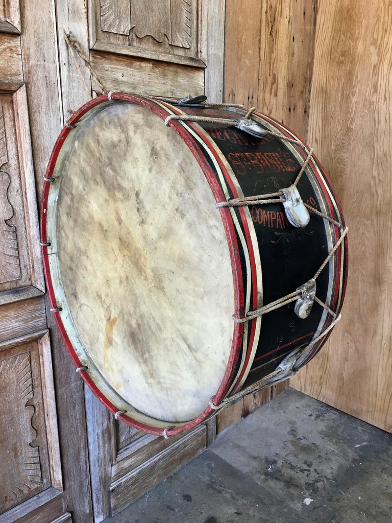 antique marching band drum from the church lad 39 s brigade for sale at 1stdibs. Black Bedroom Furniture Sets. Home Design Ideas