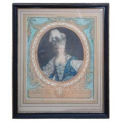 Antique Marie Antoinette d'Autriche Queen of France et de Navarre Engraving