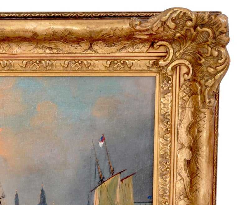 Antique Maritime Oil Painting, Frederick Calvert, circa 1830 For Sale 2