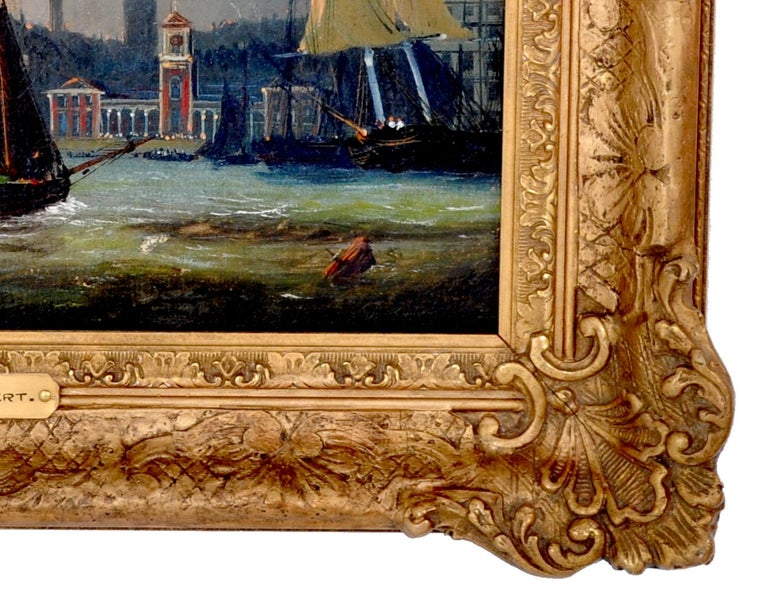 Antique Maritime Oil Painting, Frederick Calvert, circa 1830 For Sale 4