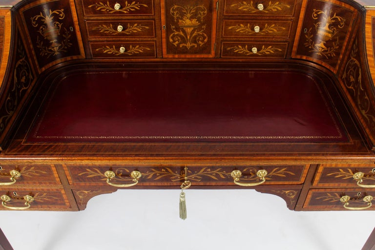 Antique Marquetry Carlton House Desk Writing Table Druce