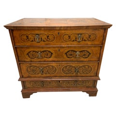 Antique Marquetry Chest of Drawers Commode Dresser Made in Italy