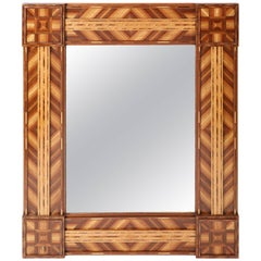 Antique Marquetry Mirror