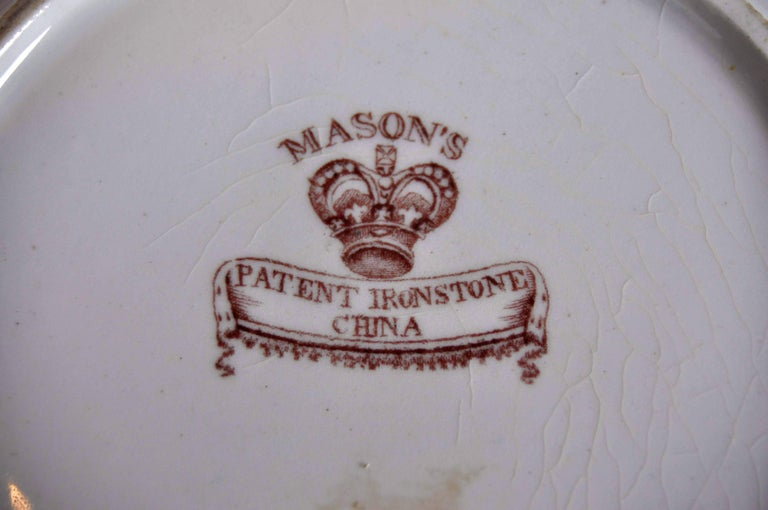 19th Century Antique Mason's Ironstone Imari Pattern Finest Gilding and Sculpted Plate For Sale