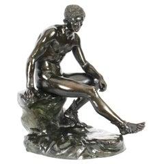 Antique Massive Italian Bronze Sculpture Mercury Hermes Chiurazzi & Fils 19thC