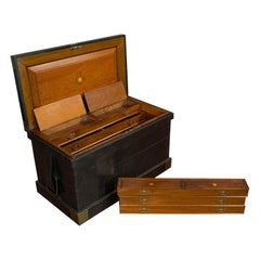 Antique Master Shipwright's Chest, English, Mahogany, Tool Trunk, Victorian