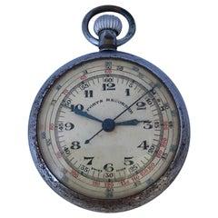 Antique Mechanical Sports Recorder Pocket Watch