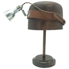 Antique Medical Head Lamp Display Stand