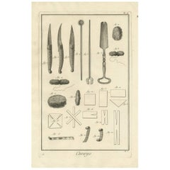 Antique Medical Print 'Pl. II' by D. Diderot, circa 1760