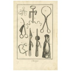 Antique Medical Print 'Pl. VI' by D. Diderot, circa 1760