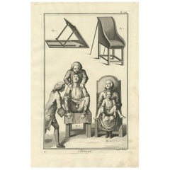 Antique Medical Print 'Pl. XII' by D. Diderot, circa 1760