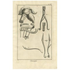 Antique Medical Print 'Pl. XIX' by D. Diderot, circa 1760