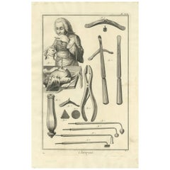 Antique Medical Print 'Pl. XVII' by D. Diderot, circa 1760