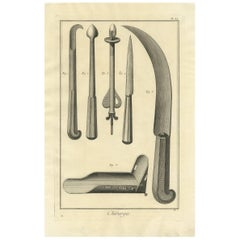 Antique Medical Print 'Pl. XX' by D. Diderot, circa 1760