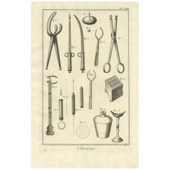 Antique Medical Print 'Pl. XXIII' by D. Diderot, circa 1760