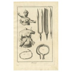 Antique Medical Print 'Pl. XXIX' by D. Diderot, circa 1760