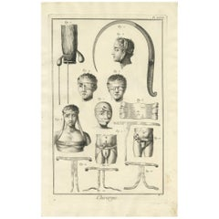 Antique Medical Print 'Pl. XXVII' by D. Diderot, circa 1760