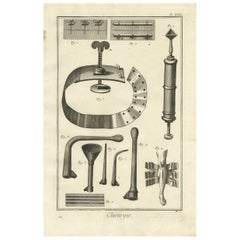 Antique Medical Print 'Pl. XXXI' by D. Diderot, circa 1760