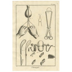 Antique Medical Print 'Pl. XXXIV' by D. Diderot, circa 1760