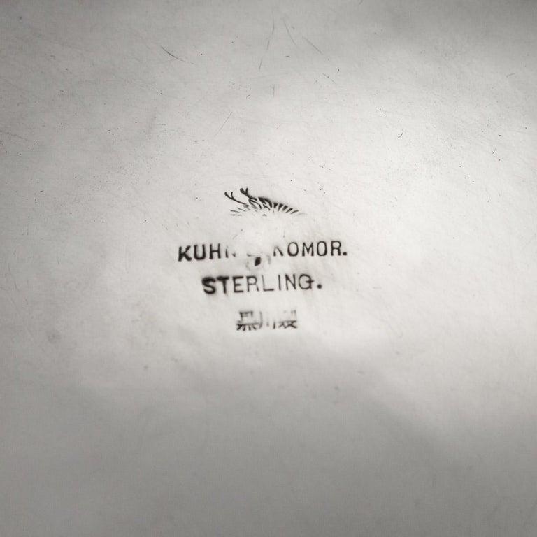 Antique Meiji Japanese Solid Silver Iris Bowl, Kuhn & Komor, circa 1900 For Sale 7